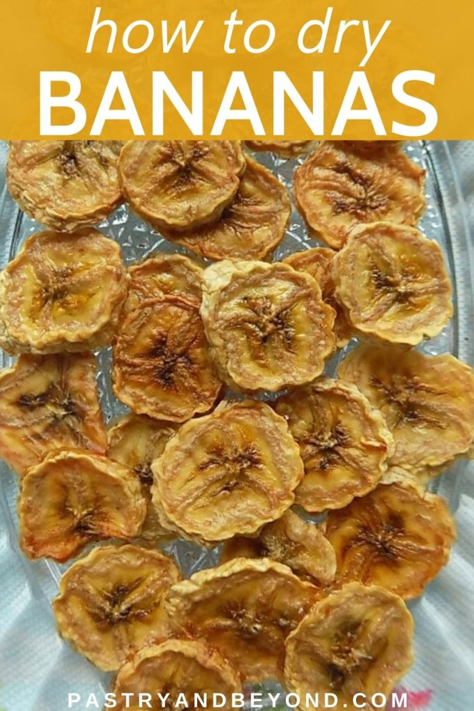Dried bananas on a plate