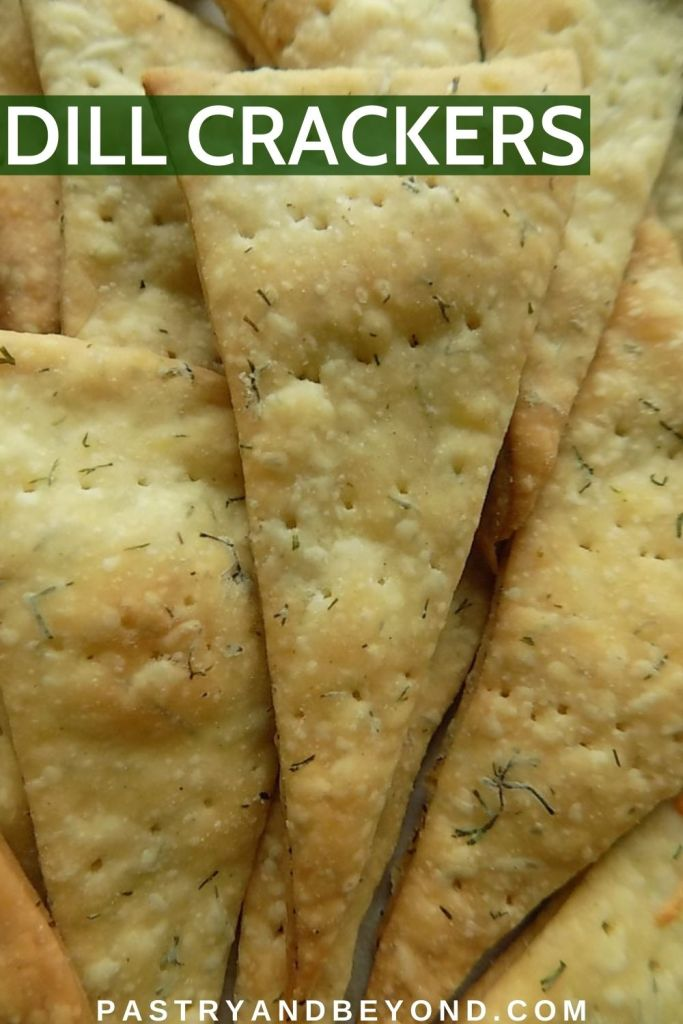 Triangle shaped dill crackers.