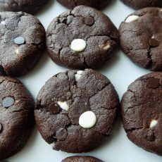 Soft & Crispy Triple Chocolate Cookies