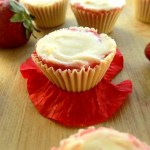 Frozen Strawberry White Chocolate Cups