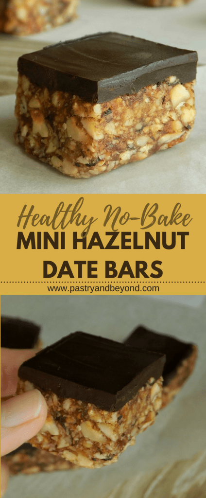 Healthy No Bake Mini Date Nut Bars