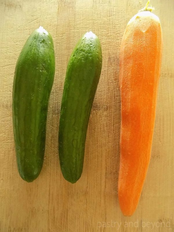 Cucumbers and carrots