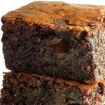 Stacked Fudgy Brownies without Cocoa Powder