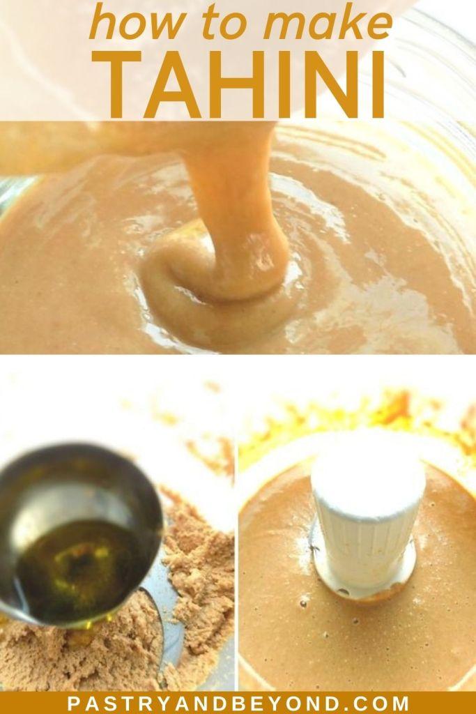 Steps of making tahini.