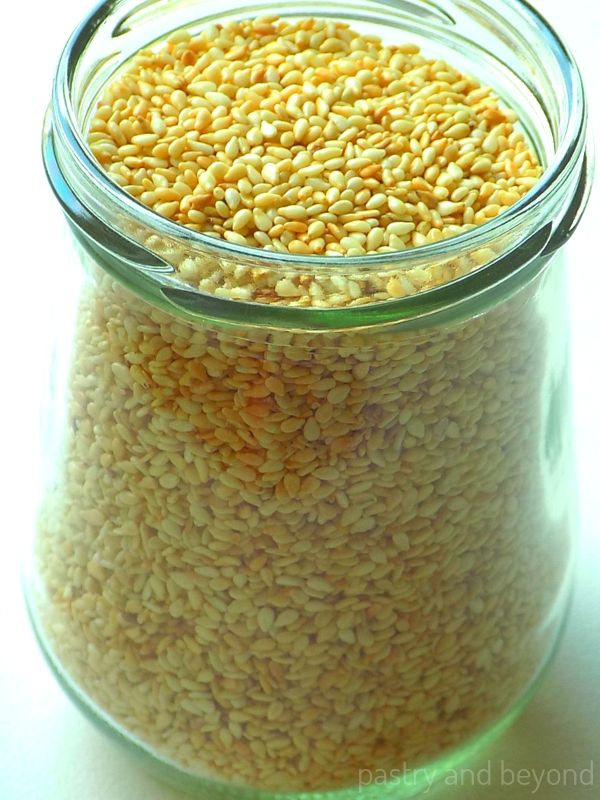 Toasted Sesame Seeds in a Jar