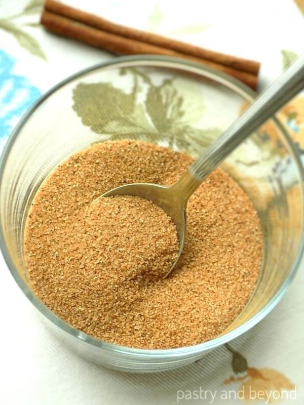 How to Make a Cinnamon Sugar in a small bowl.