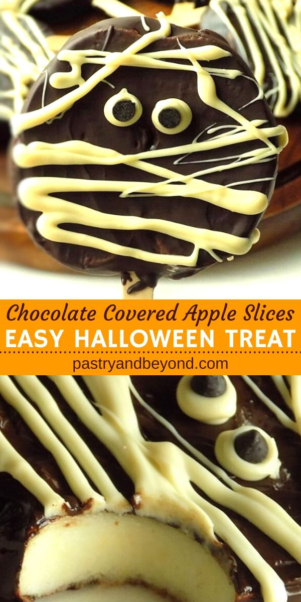 Chocolate Covered Apple Slices