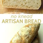 Pin showing a slice of bread and 2 loaves