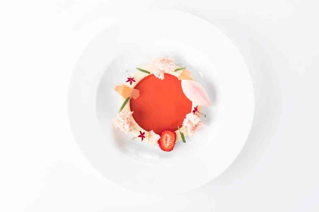 Strawberry Consommé