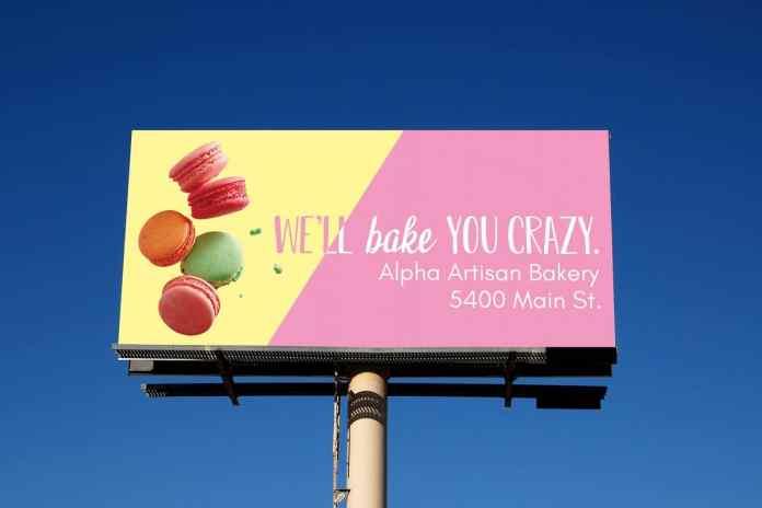 Billboard of a Bakery