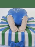 BS19-baby bottom shower cake