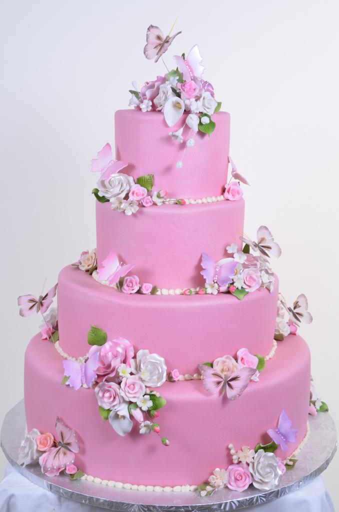 Pink Wedding Cakes Wedding Cakes Fresh Bakery Pastry Palace