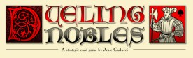 Dueling Nobles card game logo