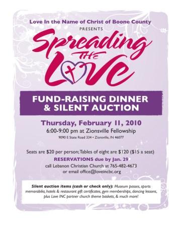 "Love INC ""Spreading the Love"" poster"