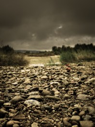 Clouds Over a Dry Riverbed