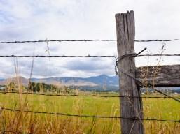 rugged montana farm scene