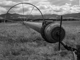 Country Sprinkler Irrigation Close Up