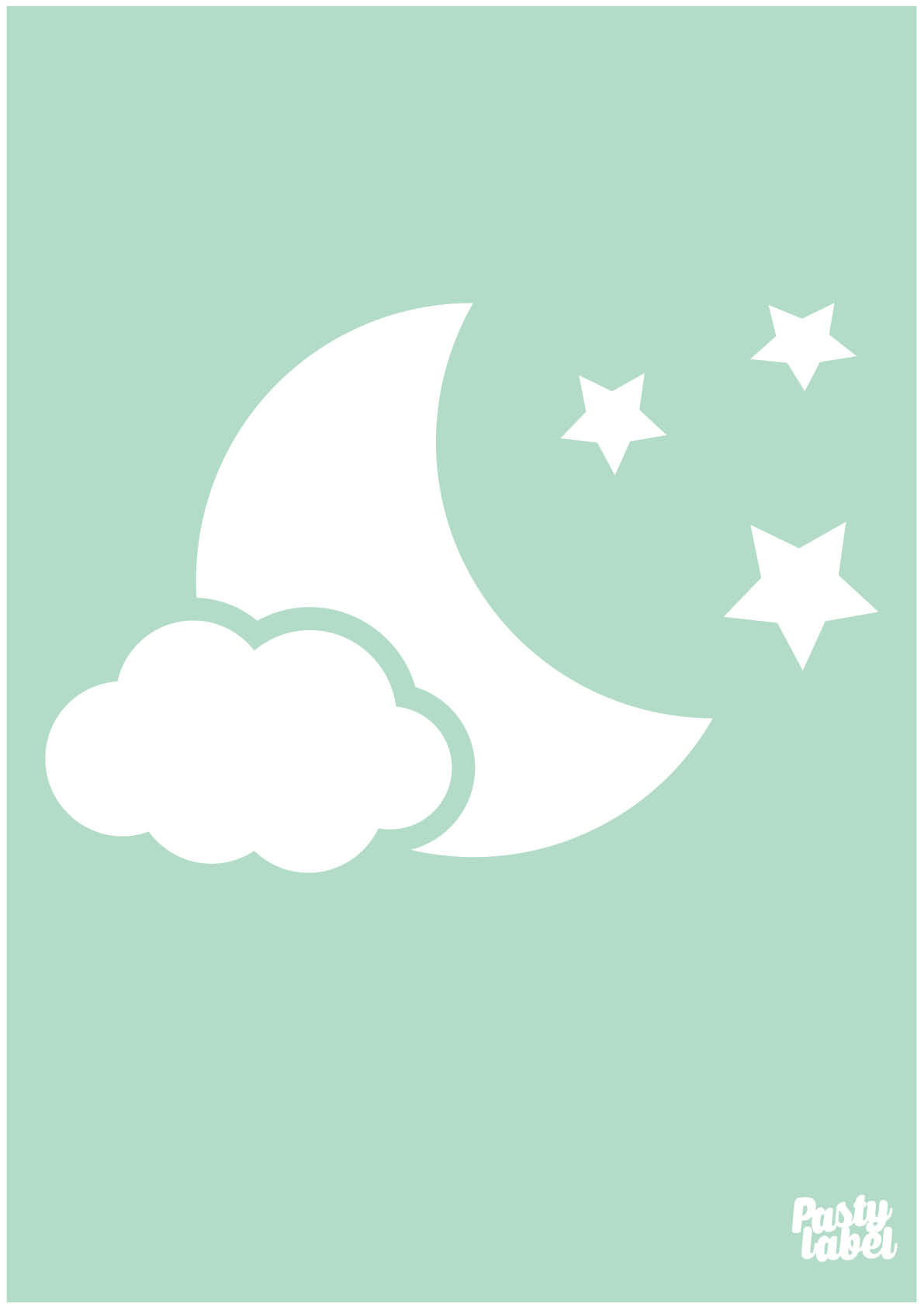 Poster Babykamer Mint  cartoonboxinfo