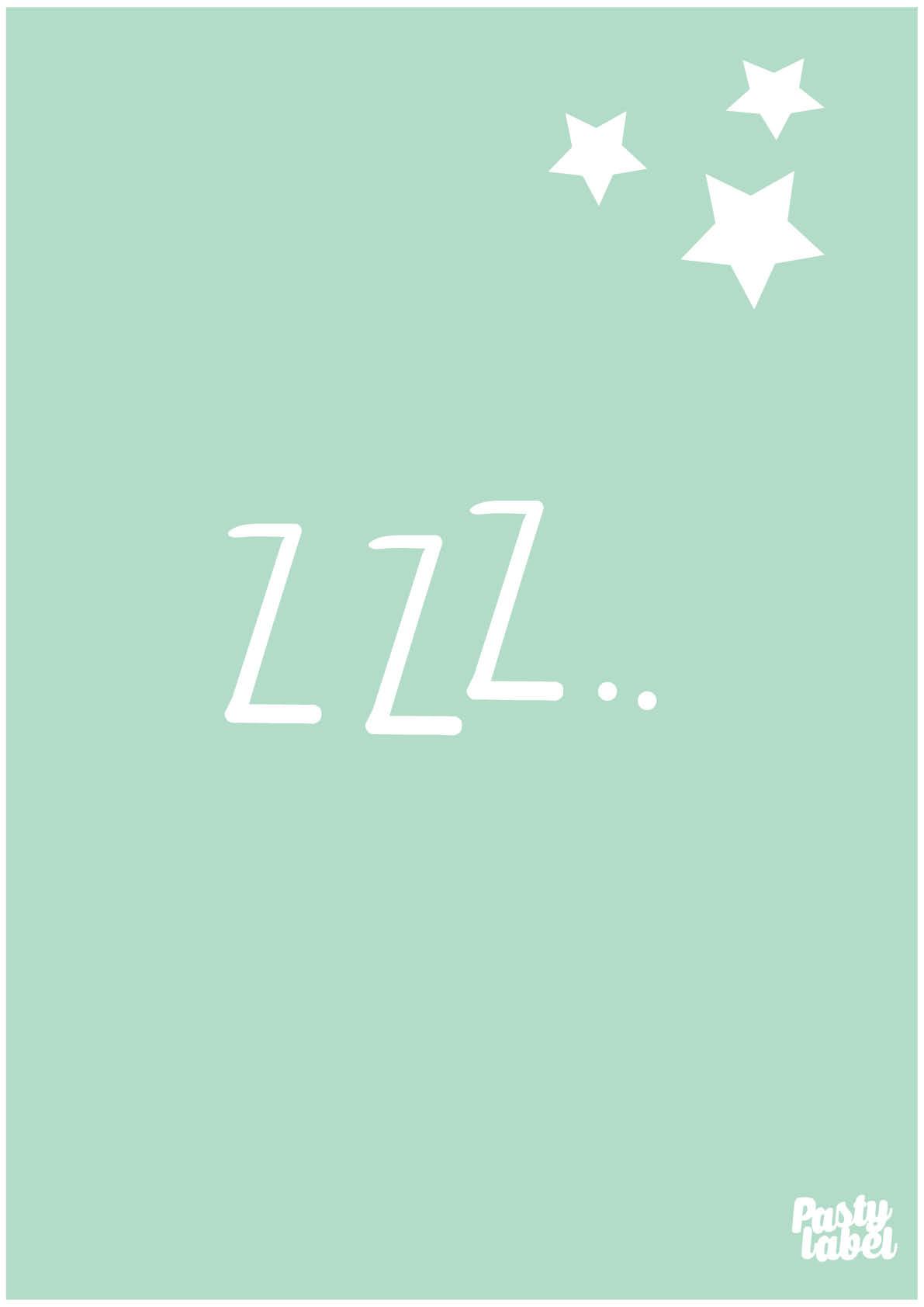 Product Poster Babykamer Slaapzacht Mint