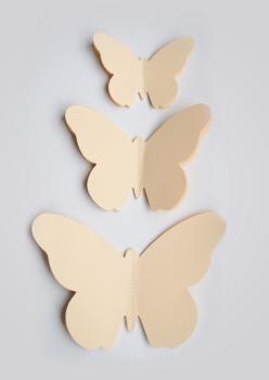 muurdecoratie vlinder 3D muursticker vlinder vlindersticker geel