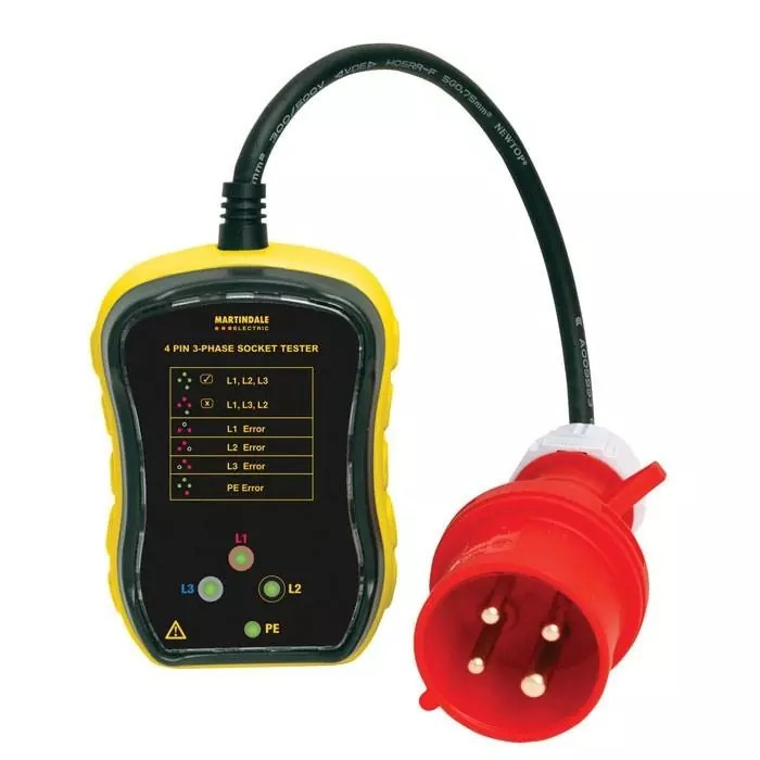 Martindale PC104 16A 3-Phase Socket Tester