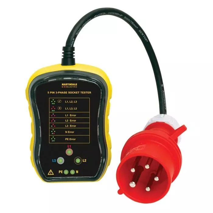 Martindale PC105 32A 3-Phase Socket Tester