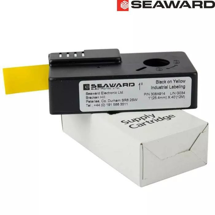 Seaward Test n Tag Label Cartridge (Black on Yellow)
