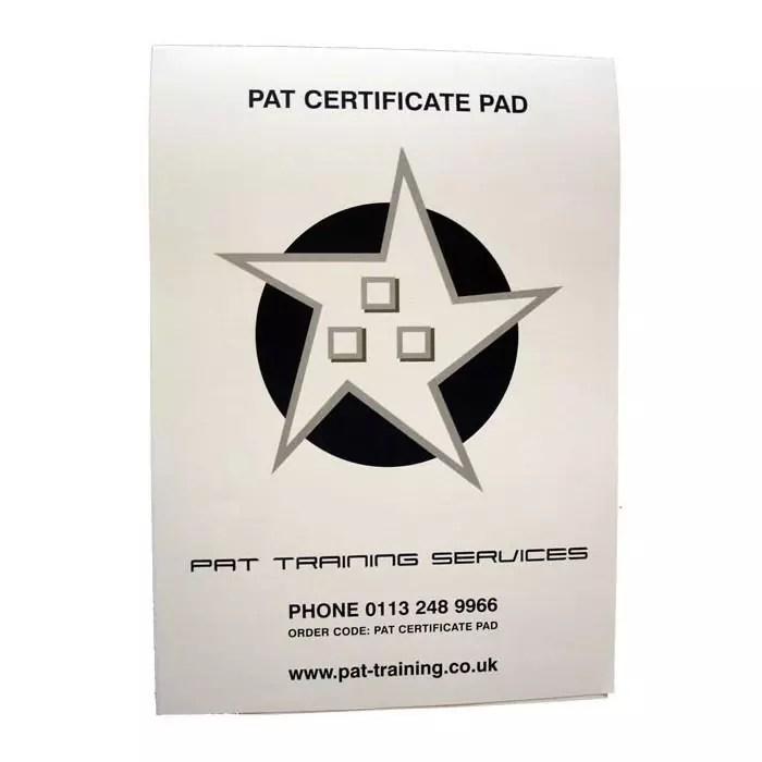 PAT Certificate Pad