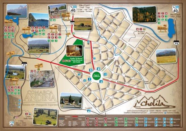 Mapa de Cholila