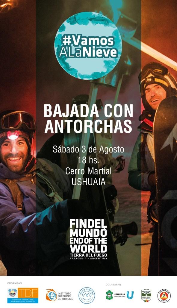 Flyer Bajada de Antorchas en el Cerro Martial
