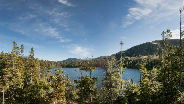 Una de las lagunas más bellas de El Hoyo, Los Alerces.