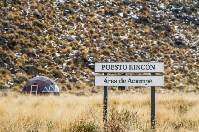 Domo para refugiarse en el Parque Patagonia.