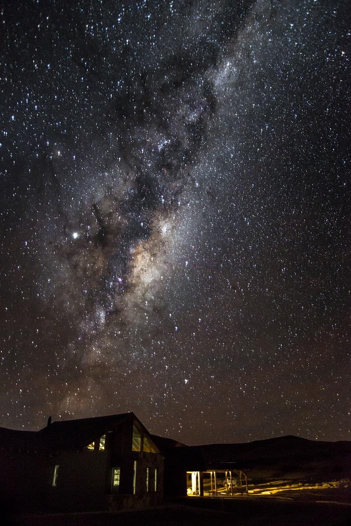 Noche de estrellas en el portal Cañadón Pinturas