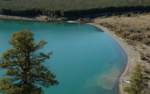 Vista desde arriba del lago Filo Hua Hum.