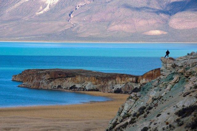 Lago posadas obras turísticas.