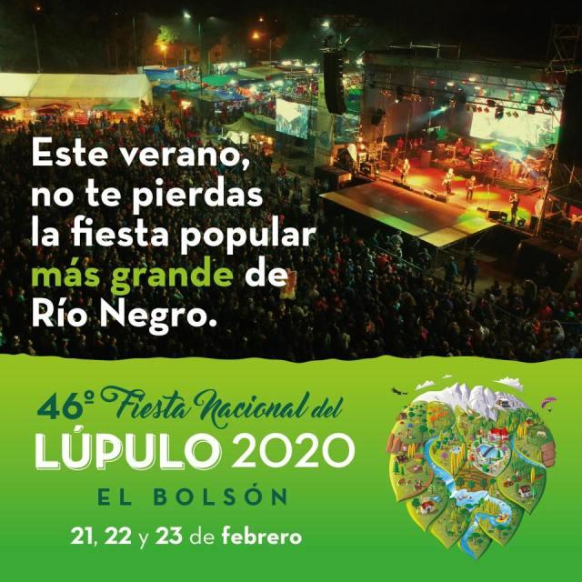 Fiesta nacional del lúpulo en El Bolsón, Fiestas comarcales 2020.
