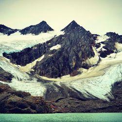 Vista panorámica del Glaciar Vinciguerra