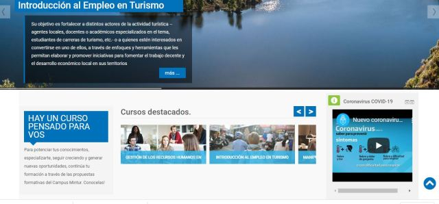 Captura de la web de Turismo.