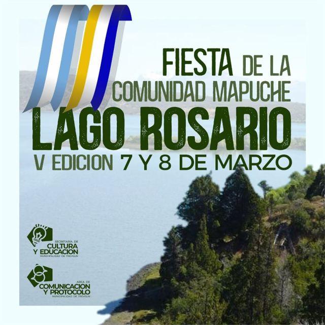 Flyer de la Fiesta Mapuche en Lago Rosario.