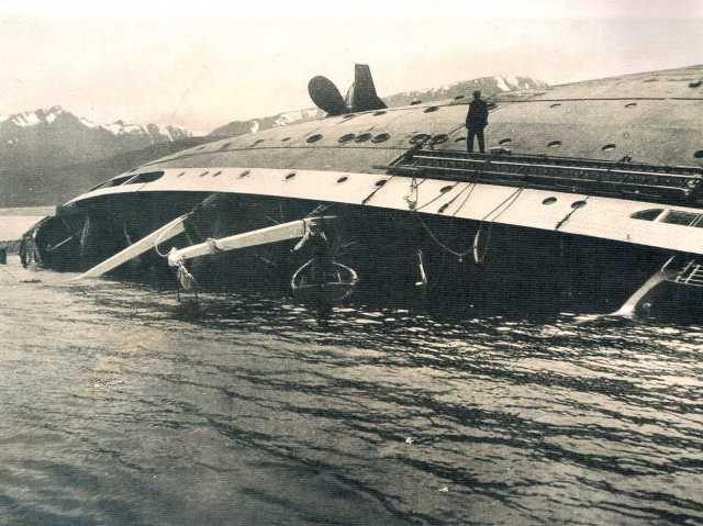 El naufragio del Monte Cervantes.