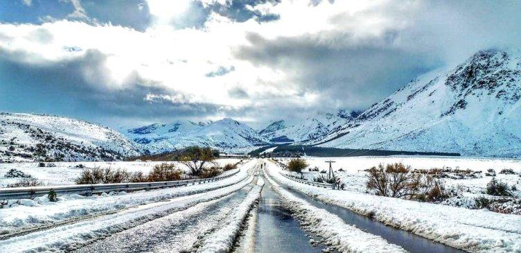 Esquel, nevadas en la Patagonia