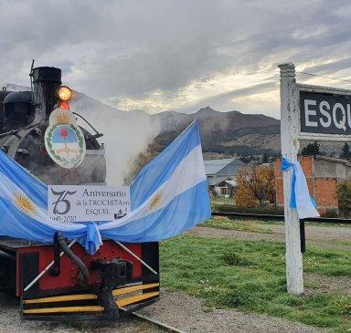 Trochita llegada a Esquel
