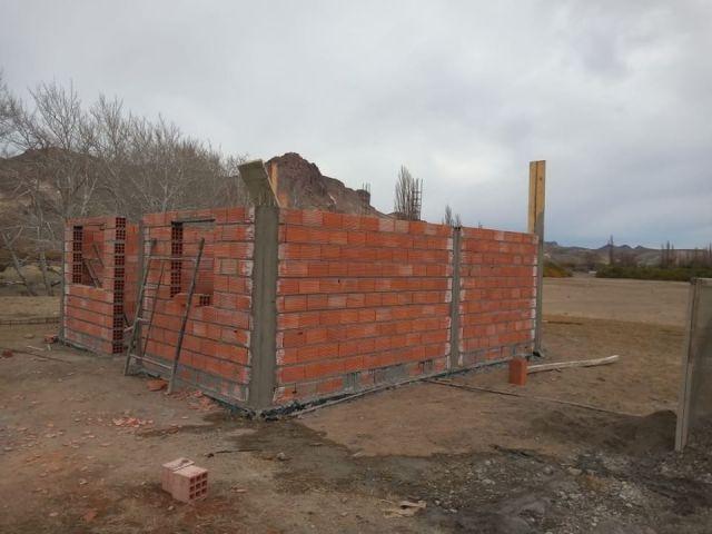 Casa en construcción en Piedra Parada, Chubut.