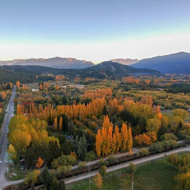 Panorámica de El Bolsón. Comarca Andina, localidades que habilitaron el paso.