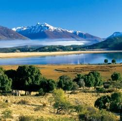 Laguna Terraplén en Esquel.