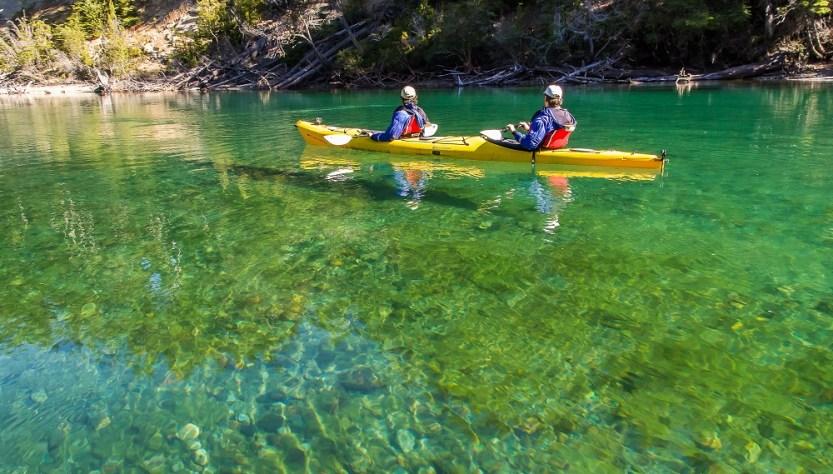 Kayak Patagonia Previaje río.