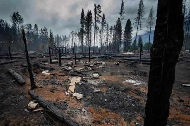Lo que dejó el incendio en la Comarca Andina.
