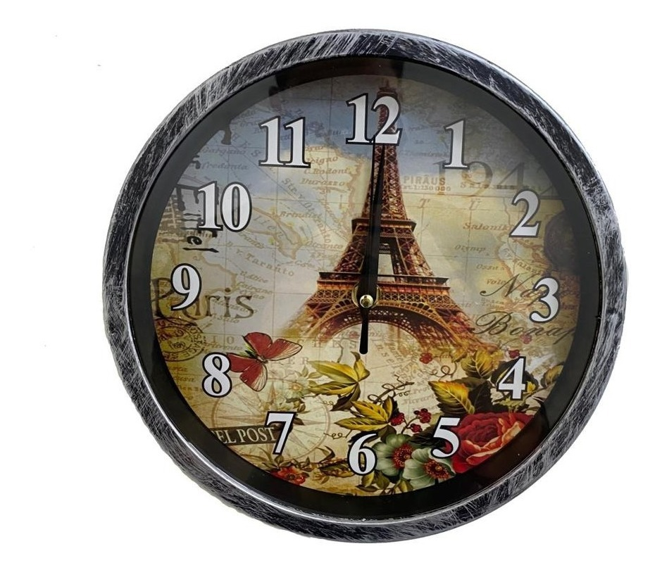 Reloj De Pared Colgar Hermoso Decorativo 23cm. Diametro