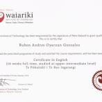 English Certification, New Zealand