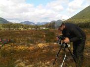 Photographing surface vegetation...